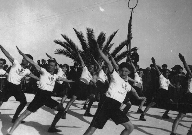 Saggio ginnico della Gioventù Fascista, 1923