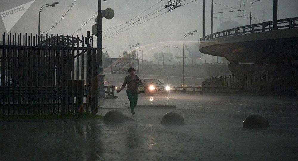 Pioggia a Mosca