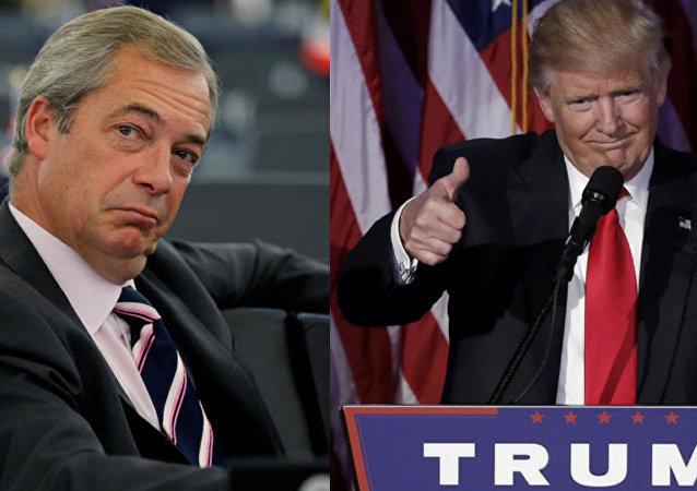 Nigel Farage e Donald Trump