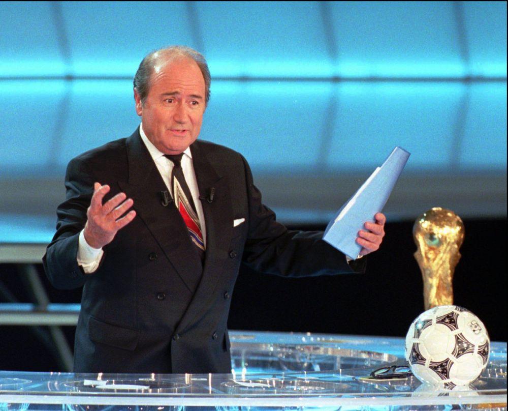 Segretario generale della Fifa Joseph Blatter, 1995.