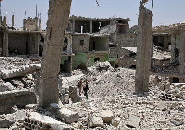 Macerie in Siria