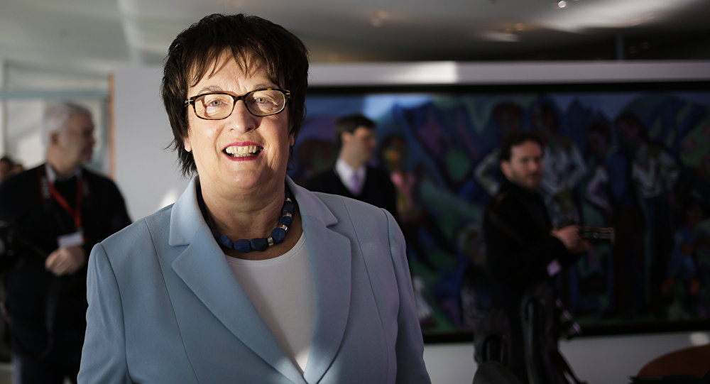 il ministro tedesco per l'Economia e l'Energia Brigitte Zypries