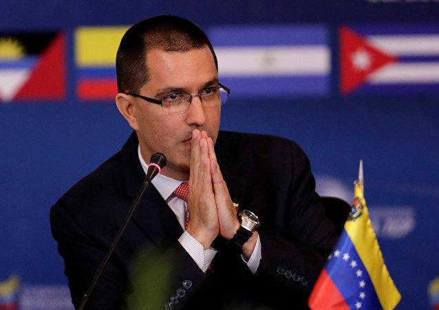 Il ministro Esteri del Venezuela Jorge Arreaza