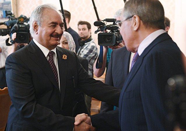 Haftar e Lavrov a Mosca