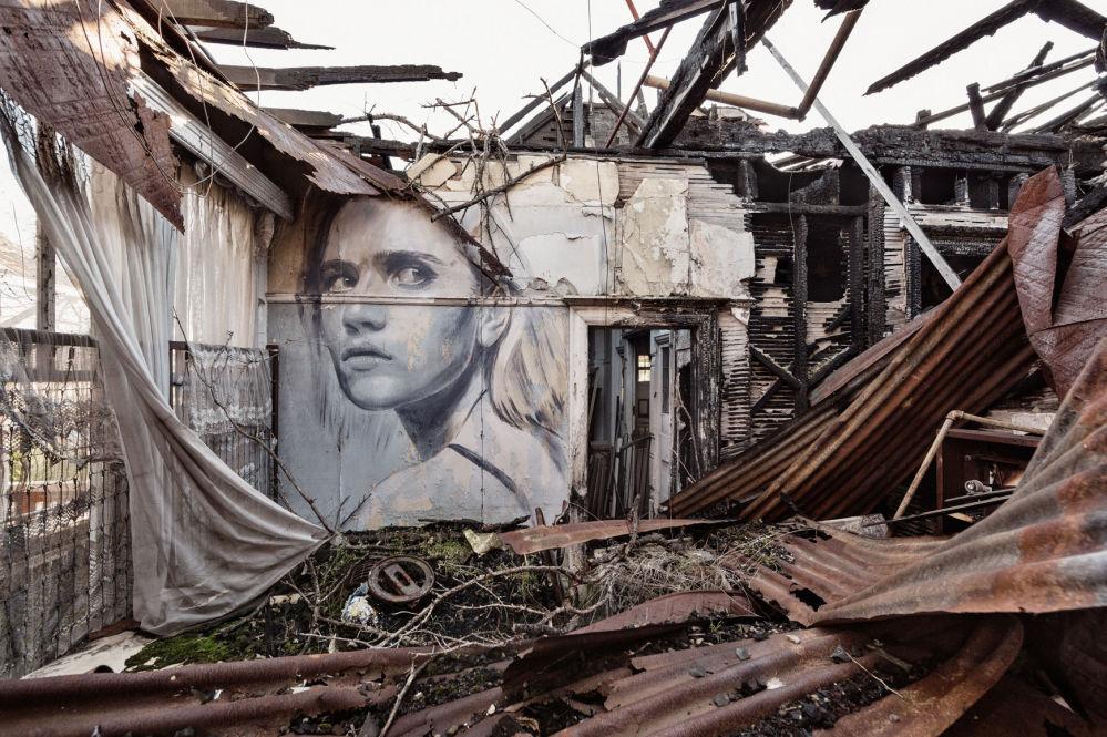 Ritratti sui muri abbandonati