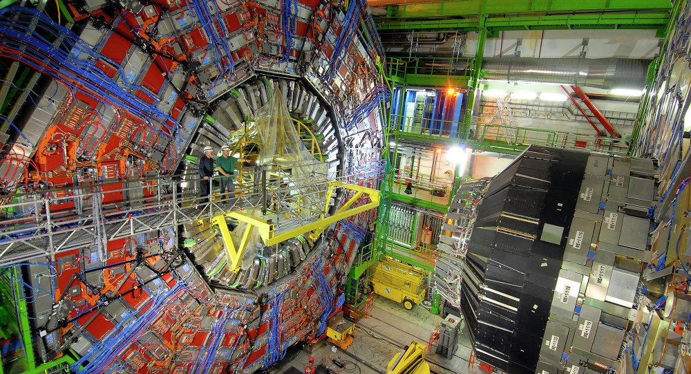 Una parte dell'acceleratore Large Hadron Collider