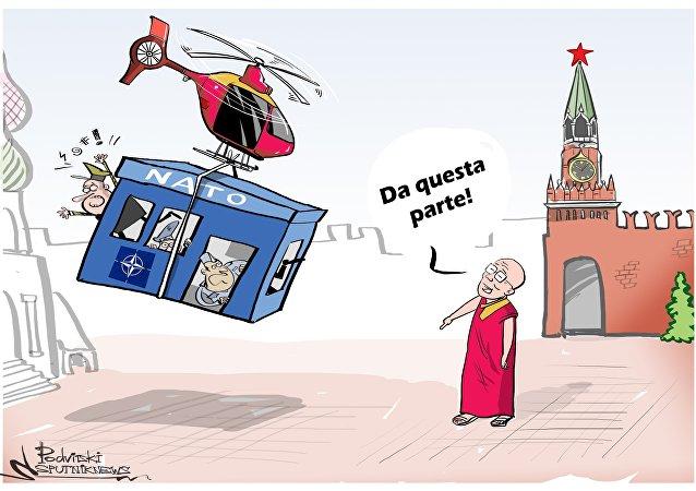 Dalai Lama sogna trasloco del quartier generale NATO a Mosca
