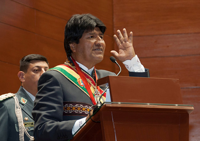 Bolivia's President Evo Morales speaks during a ceremony in Sucre, Bolivia, May 24, 2016