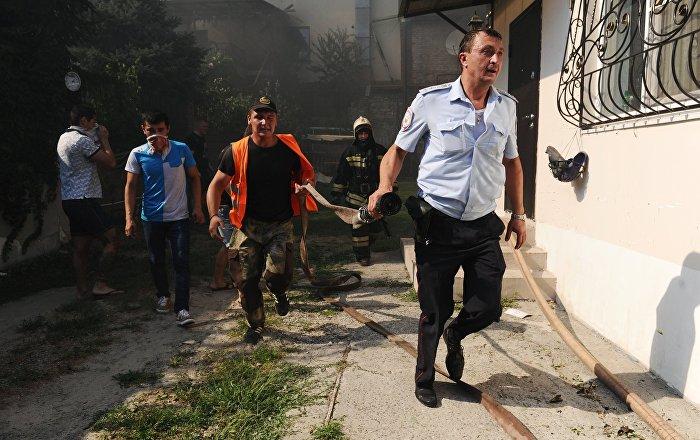Incendio a Rostov