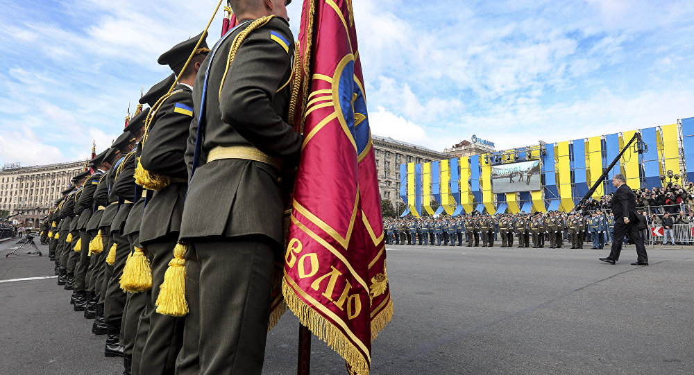Alla Parata del Giorno d'Indipendenza a Kiev