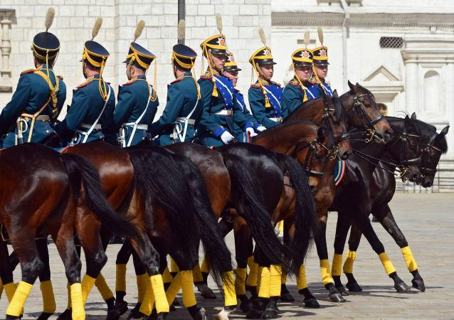 Il Reggimento presidenziale russo al festival Torre Spasskaya