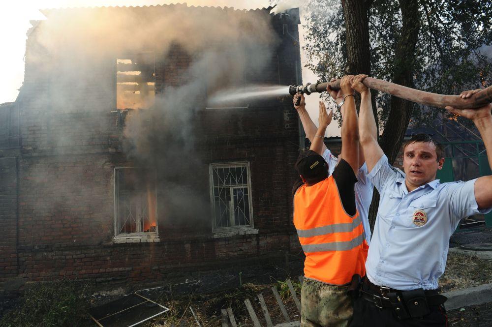 La liquidazione dell'incendio a Rostov-sul-Don.