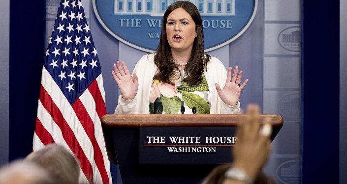 La portavoce della Casa Bianca Sarah Huckabee Sanders