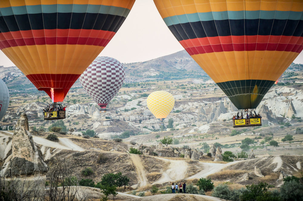 Palloni aerostatici nella regione turca di Cappadocia.