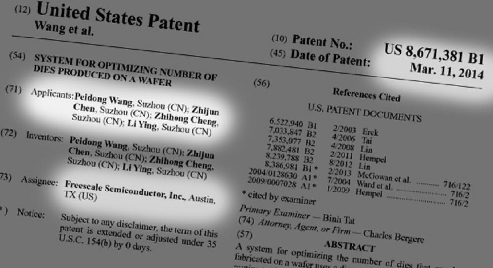 Il brevetto incriminato