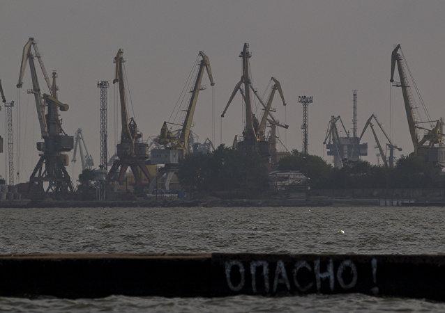 Il porto di Mariupol nel mar d'Azov