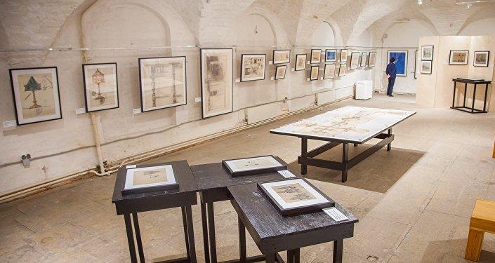 Molti dei disegni esposti alla mostra Le opere italiane di Shchusev vengono mostrati al pubblico per la prima volta
