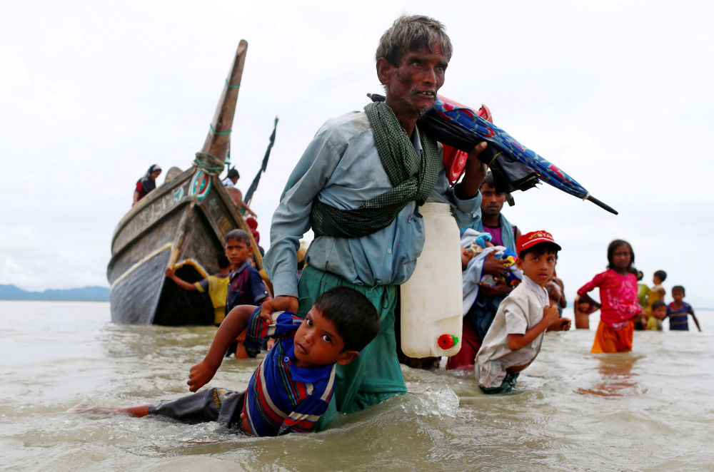 I rifugiati al confine tra Bangladesh e Myanmar.