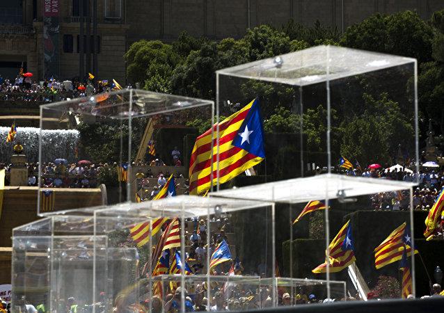 Le bandiere di Catalogna.