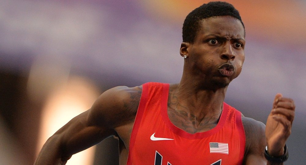 Un atleta americano ai mondiali di atletica di Mosca