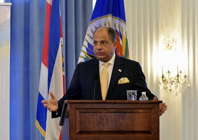 Il presidente della Costa Rica Luis Guillermo Solis