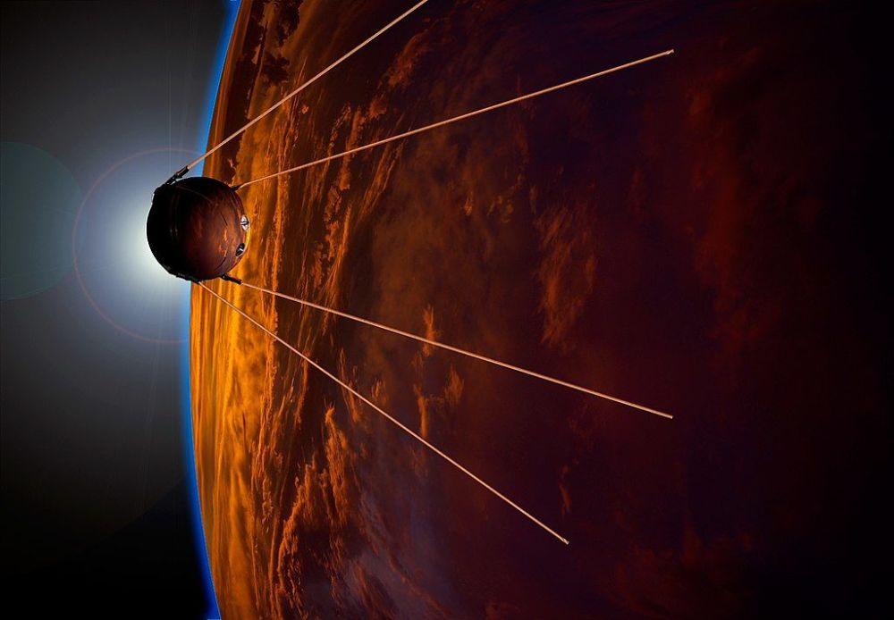 La visualizzazione dell'artista in onore del 50esimo anniversario del lancio.
