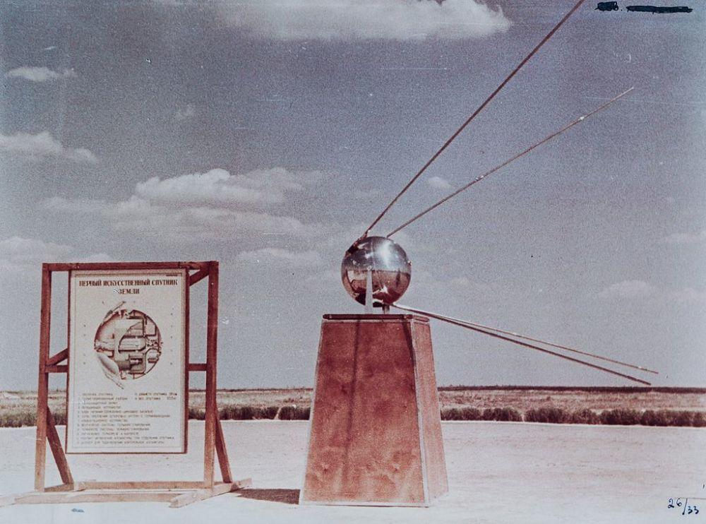 È un modello del satellite.