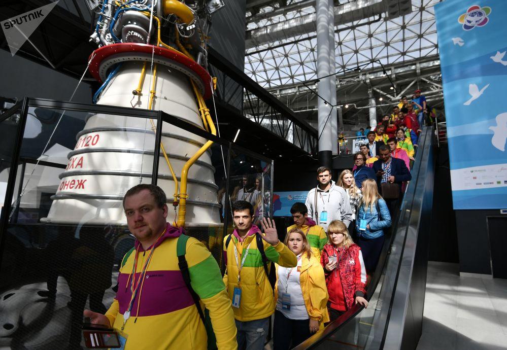 I partecipanti al 19° Festival Internazionale della Gioventù a Sochi