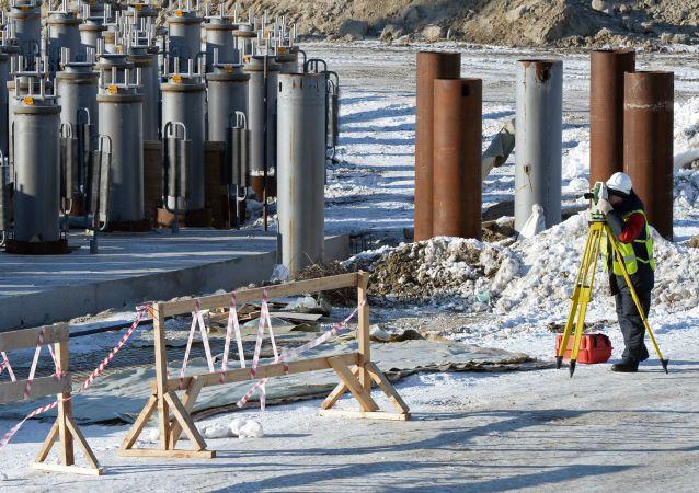 Impianto di gas in Siberia