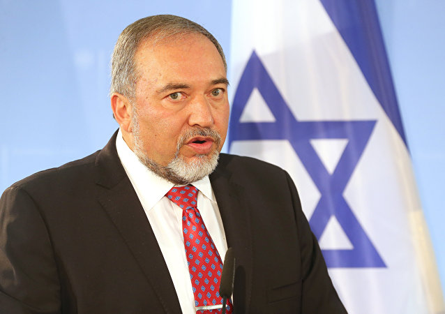 Avigdor Lieberman speaks during a press conference after meeting with his German counterpart on June 30, 2014 in Berlin.