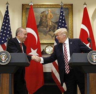 Donald Trump e Recep Tayyip Erdogan alla Casa Bianca, 2017