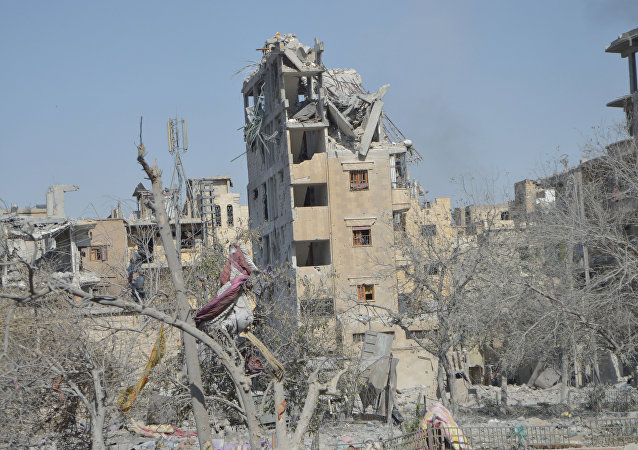 Distruzione a Raqqa