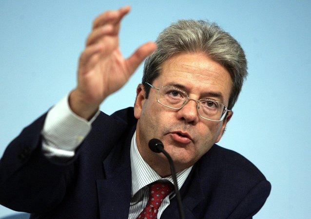 Paolo Gentiloni, ministro degli esteri italiano
