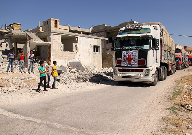 Convoglio umanitario in Siria (foto d'archivio)