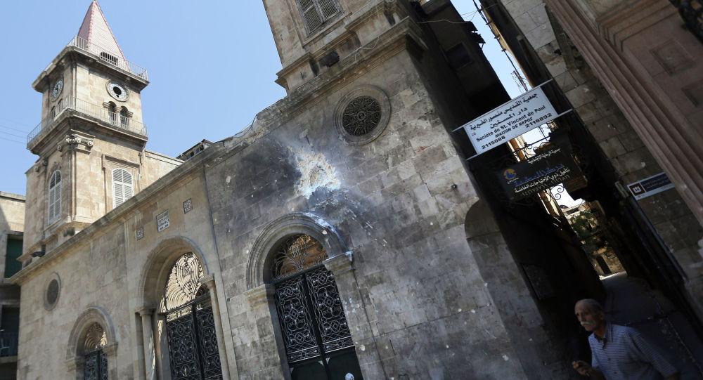Chiesa cristiana colpita da un missile islamista ad Aleppo (foto d'archivio)