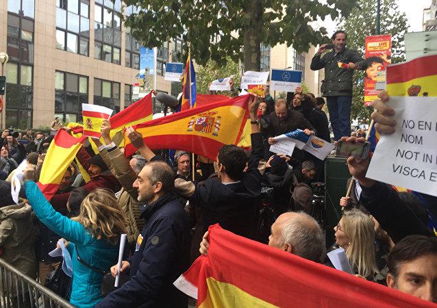 La situazione in Catalogna, le proteste a Barcellona