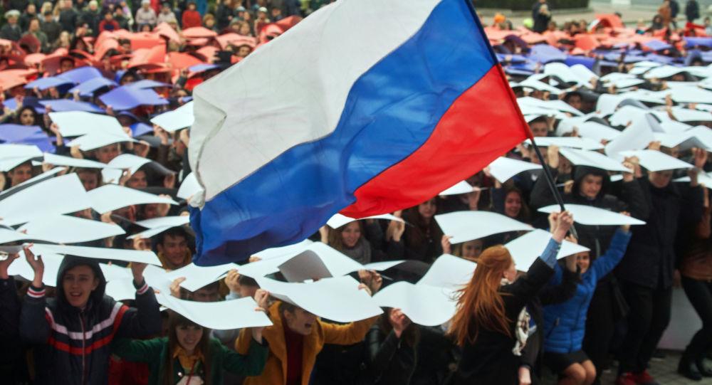 Manifestazione patriottica in Crimea