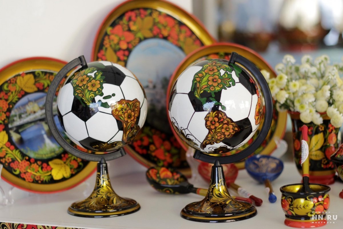 Un mappamondo a forma di pallone