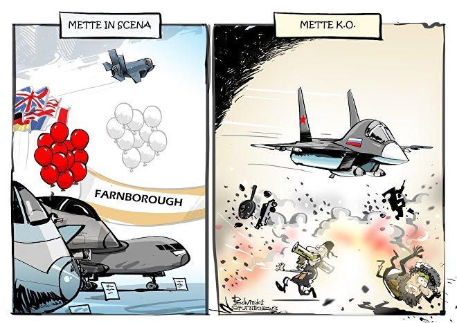 La Russia non potrà mettere in mostra i propri aerei al salone aeronautico di Farnborough