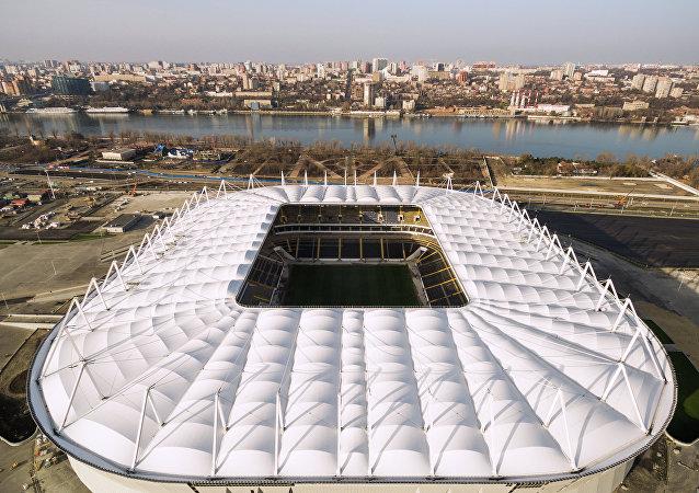 Veduta del nuovo stadio di Rostov sul Don