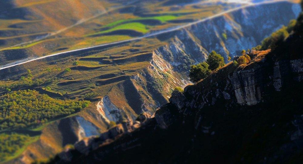 Paesaggio del Daghestan (foto d'archivio)