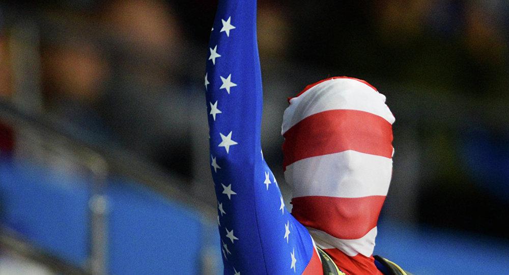 Un tifoso americano alle Olimpiadi di Sochi 2014