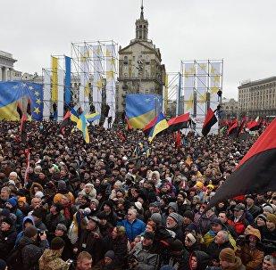 Manifestazione dei sostenitori di Saakashvili sulla legge per l'impeachment