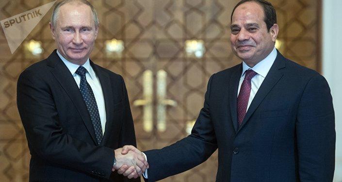 L'incontro del Vladimir Putin con il suo omologo egiziano Abd al-Fattah al-Sisi