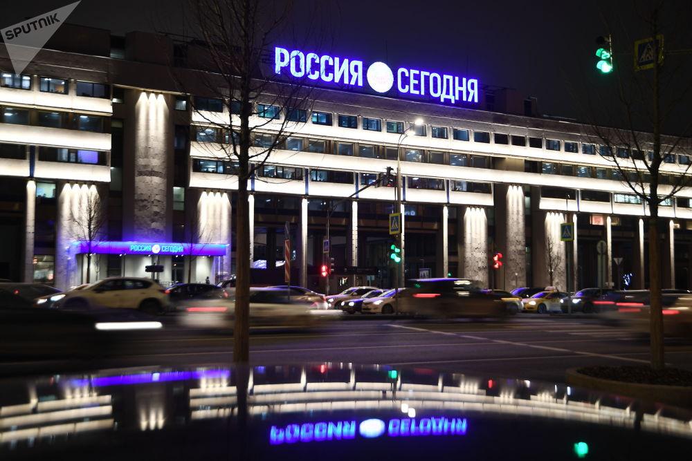 Nuova illuminazione di Sputnik e Rossiya Segodnya.