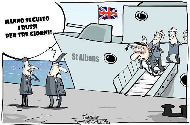 Giochi di guerra: una fregata inglese scorta una nave russa
