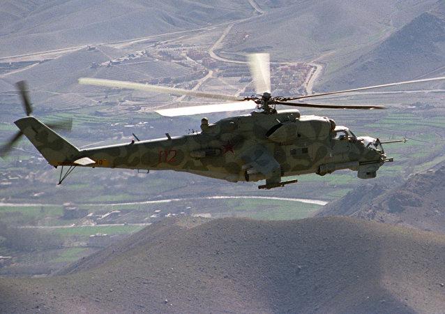 Un Mi-24 in volo