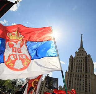 Serb March in support of Serbia's territorial integrity