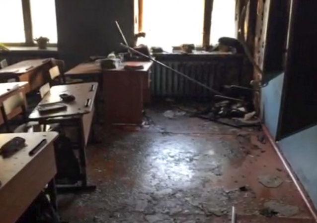 La classe della scuola nell'insediamento di Sosnovy Bor a Ulan-Ude, Russia, dov'è avvenuto l'attacco.