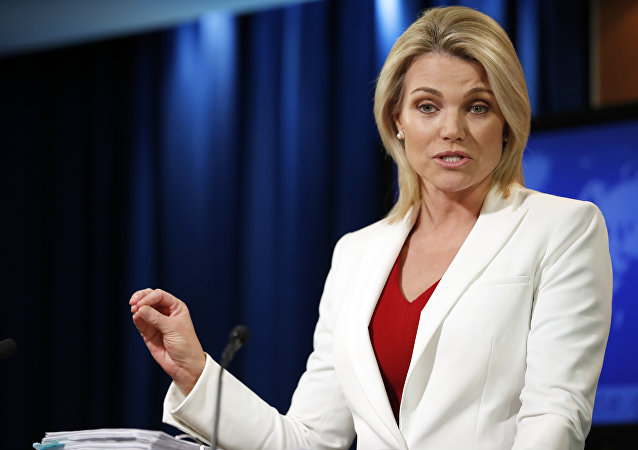 State Department spokeswoman Heather Nauert speaks during a briefing at the State Department in Washington, Wednesday, Aug. 9, 2017